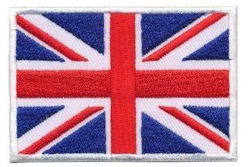 Opstrijkbare applicatie Britse vlag (5 stuks)