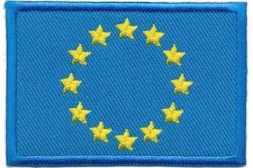 Opstrijkbare applicatie vlag Europese Unie (5 stuks)