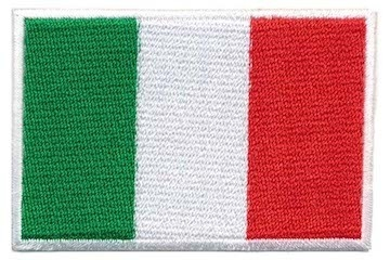 Opstrijkbare applicatie Italiaanse vlag (5 stuks)