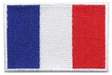 Opstrijkbare applicatie Franse vlag (5 stuks)
