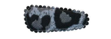 Haarkniphoesje panterprint grijs 3 cm (ca. 100 stuks)
