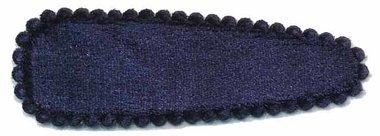 Haarkniphoesje fluweel donker blauw 5 cm (ca. 100 stuks)