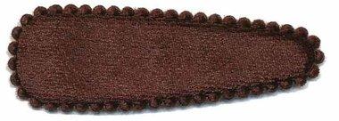 Haarkniphoesje fluweel bruin 5 cm (ca. 100 stuks)