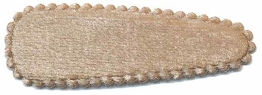 Haarkniphoesje fluweel champagne 5 cm (ca. 100 stuks)