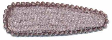 Haarkniphoesje fluweel zilvergrijs 5 cm (ca. 100 stuks)