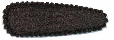 Haarkniphoesje fluweel zwart 5 cm (ca. 100 stuks)
