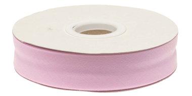 Licht roze gevouwen biaisband 20 mm (20 meter)
