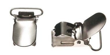 Bretel clip zilverkleurig met ronde hoeken 20 mm (25 stuks)