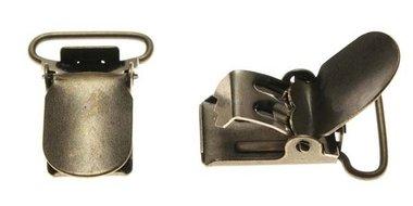 Bretel clip bronskleurig met ronde hoeken 20 mm (25 stuks)