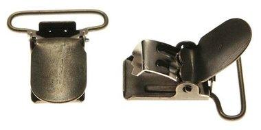 Bretel clip bronskleurig met ronde hoeken 25 mm (25 stuks)