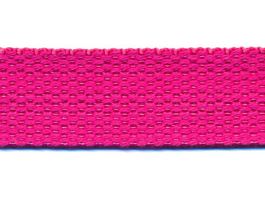 Tassenband 25 mm fuchsia COTTON-LOOK (ca. 50 m)