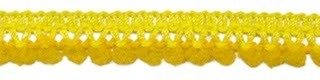 Mini pompomband geel/okergeel 10 mm (ca. 32 meter)