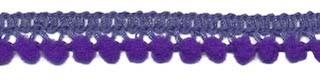 Mini pompomband paars 10 mm (ca. 32 meter)
