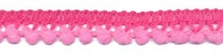Mini pompomband roze 10 mm (ca. 32 meter)
