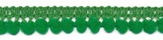 Mini pompomband groen 10 mm (ca. 32 meter)