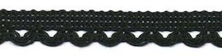 Sierband met lus-/schulprandje zwart 12 mm (ca. 32 meter)