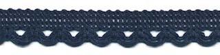 Sierband met lus-/schulprandje donker blauw 12 mm (ca. 32 meter)