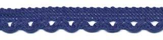 Sierband met lus-/schulprandje kobalt blauw 12 mm (ca. 32 meter)
