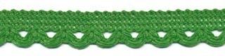 Sierband met lus-/schulprandje groen 12 mm (ca. 32 meter)
