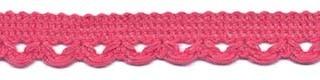 Sierband met lus-/schulprandje oud roze 12 mm (ca. 32 meter)