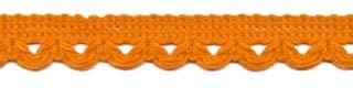 Sierband met lus-/schulprandje oranje 12 mm (ca. 32 meter)