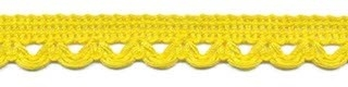 Sierband met lus-/schulprandje geel 12 mm (ca. 32 meter)