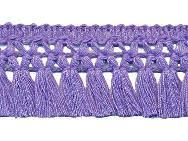 Franje-kwastjesband lila ca. 32 mm (ca. 16 meter)