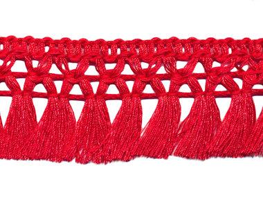 Franje-kwastjesband rood ca. 32 mm (ca. 16 meter)