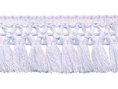 Franje-kwastjesband wit ca. 32 mm (ca. 16 meter)
