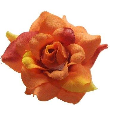 Roos oranje stof ca. 4,5 cm (10 stuks)