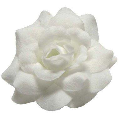 Roos wit stof ca. 4,5 cm (10 stuks)