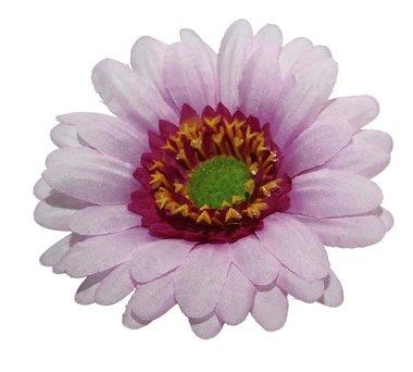 Gerbera roze stof groot ca. 10 cm (5 stuks)
