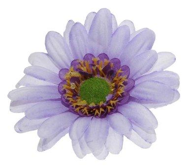 Gerbera paars stof groot ca. 10 cm (5 stuks)