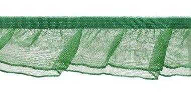 Groen roezel elastiek met dubbele roezel ca. 27 mm (ca. 10 meter)