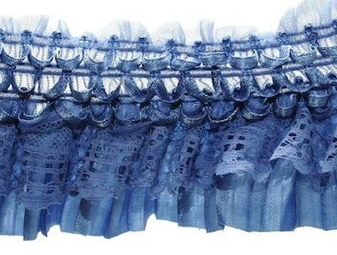 Elastische roezel blauw 70 mm (5 meter)