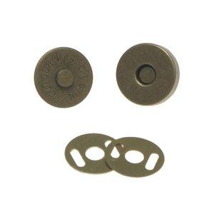 Magneetsluiting bronskleurig 14 mm (10 stuks)