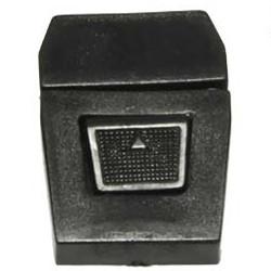 Kunststof tas sluiting zwart ca. 35x50 mm