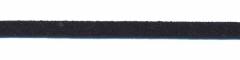 Imitatie suede veter donker blauw 3 mm (ca. 10 m)