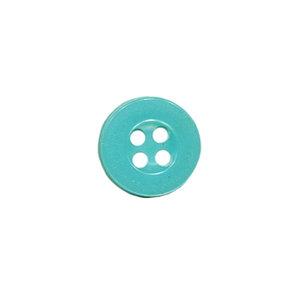 Knoop met 4 gaten aqua 10 mm (ca. 100 stuks)