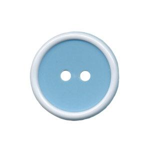 Knoop met opstaande rand licht blauw-wit 20 mm (ca. 25 stuks)