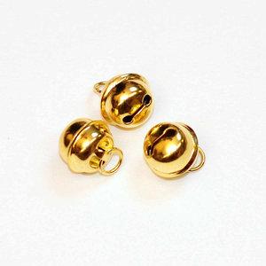 Ronde belletjes goudkleurig 13 mm (ca. 25 stuks)