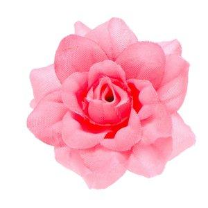 Roos NEON roze stof ca. 4,5 cm (5 stuks)