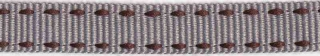 Grijs-bruin stippel grosgrain/ribsband 10 mm (ca. 25 m)