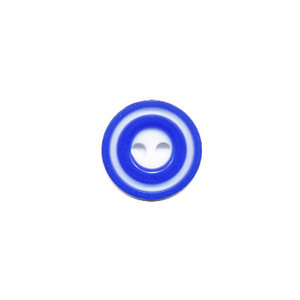 Knoop 'donut' mini kobalt blauw 10 mm (ca. 100 stuks)