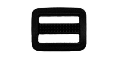 Schuifgesp zwart kunststof 20 mm (10 stuks)
