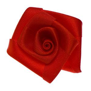 Roos satijn rood 30 mm (10 stuks)