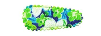 Haarkniphoesje groen met zomerse bloem 3 cm (ca. 20 stuks)
