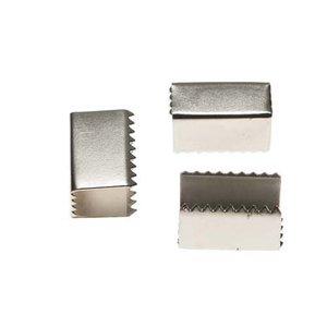 Metalen veter-/koordklem 15x7 mm (ca. 100 stuks)