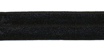 Zwart #999 elastisch biaisband 20 mm (ca. 25 m)