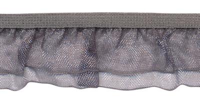 Grijs roezel elastiek met dubbele roezel ca. 27 mm (ca. 10 meter)